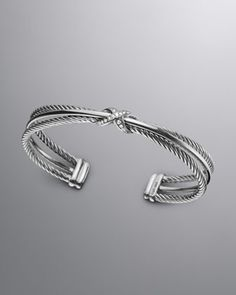 X Crossover Cuff with Diamonds by David Yurman at Neiman Marcus.
