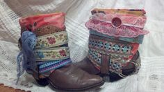 GYPSY These Upcycled size 7 1/2 (7.5) all leather vintage Abilene Brand Cowboy Boots are all the rage in BOHO Boot Wear. $119.00, via Etsy.