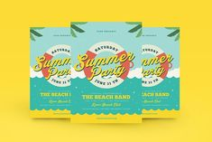 Summer Beach Flyer by Guuver on @creativemarket