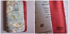 Manualicraft - Costura creativa: Funda portadocumentos de viaje. Tutorial Office Supplies, Notebook, Maps, Bag, Scrappy Quilts, Wallets, Amor, Fabric Wallet, Drawn Thread