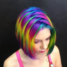 Hair Painting Ideas 2019 you Will Love to Try These Best Hair Dye Ideas 2019 that will make you More Appealing Funky Hair Colors, Pretty Hair Color, Hair Dye Colors, Rainbow Hair Colors, Funky Hairstyles, Pretty Hairstyles, Best Hair Dye, Dye My Hair, Bright Hair