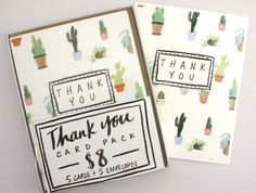 Cacti Print Cards // Succulent Thank You Cards