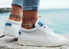 fashion Looking for some unique splendid anklet, well no worries, we have huge collection of exquisite anklets fashion accessories for every occasion Sock Shoes, Cute Shoes, Women's Shoes, Me Too Shoes, Converse Nike, Surfergirl Style, Basket Style, Fashion Shoes, Fashion Accessories