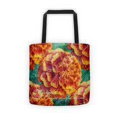 Birthday Blossom Tote Bag - October, Marigold