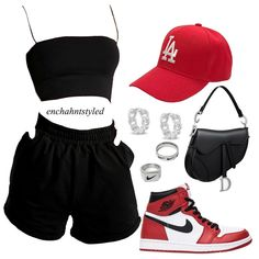 Swag Outfits For Girls, Cute Swag Outfits, Cute Comfy Outfits, Dope Outfits, Retro Outfits, Trendy Outfits, Girl Outfits, Nike Fashion Outfit, Teen Fashion Outfits