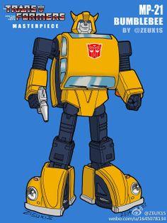 Transformers Masterpiece MP-21 Bumble (Bumblebee) silhouette fan interpretation