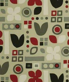 Robert Allen @ Home Habitat Cherry Fabric - $10.4 | onlinefabricstore.net