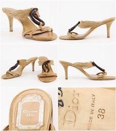 Boho Christian Dior Sandals, High Heel Leather Stilettos, snake medallion strappy slip on summer mules, designer hippie summer shoes