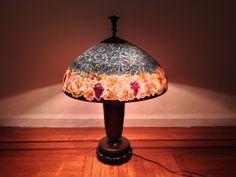 Antique Handel Lamp Reverse Painted Glass | eBay