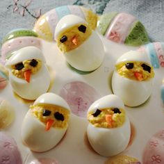 Baby Chicks Deviled Eggs from www.MealMakeoverMoms.com/kitchen by mealmakeovermoms, via Flickr