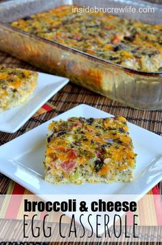 Broccoli and Cheese Egg Casserole - An egg casserole mixed with vegetables is a quick and delicious breakfast choice