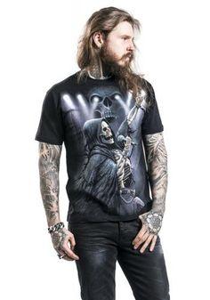 """Classica T-Shirt uomo nera """"Rock4Ever"""" del brand #Spiral."""