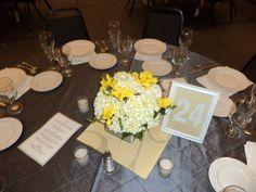 Wedding centerpiece- hydrangeas and freesia