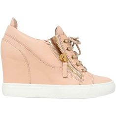 Giuseppe Zanotti Design Women 90mm Leather Wedge Sneakers