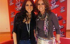La guapa Cinthia Urias luciendo collar Jenny Rabell en el programa La Voz México. Compra accesorios Jenny Rabell en: http://jennyrabelltienda.com/