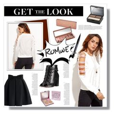 """""""Romwe Top"""" by samella-walters ❤ liked on Polyvore featuring Urban Decay, Gianvito Rossi, Chicwish and Anja"""