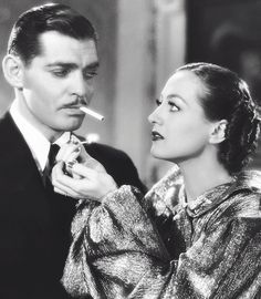 Clark Gable and Joan Crawford in Chained, 1934