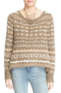 Free shipping and returns on Free People 'Through the Storm' Sweater at Nordstrom.com. A gently scooped neckline and a drapeysilhouette definea cozypullover sweaterknit ina wintryFair Isle design.