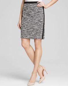 Calvin Klein Marled Tweed Pencil Skirt - Bloomingdale's Exclusive