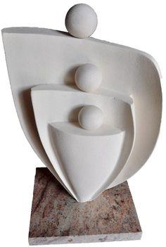 Sculptures de personnages - André Couget Slab Pottery, Ceramic Pottery, Pottery Art, Ceramic Art, Stone Sculpture, Sculpture Clay, Abstract Sculpture, Wood Carving Art, Stone Carving