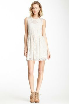 Jack by BB Dakota Gabriella Mesh Inset Lace Dress by Non Specific on @HauteLook