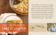The Deen Bros. Lighter Asparagus Quiche on PaulaDeen.com