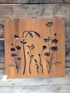 metal wall art, rust panel,