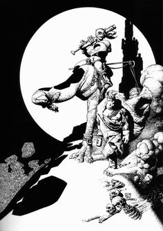 Mercenary And Cyclop. Originally printed in Heavy Metal: The Best Of Richard Corben From Creepy & Eerie (1998)