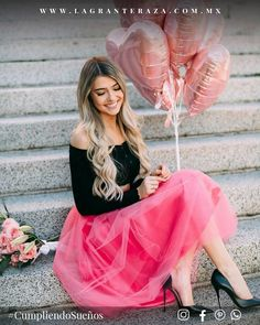 Tiffany tulle skirt in fuchsia by Bliss Tulle / Model: Marina Yushchuk / Photography: Anna Perevertaylo Photography Balloons Photography, Birthday Photography, Couple Photography Poses, Girl Photography, Birthday Girl Pictures, Birthday Photos, Robes D'occasion, Girls Dpz, Dress Picture