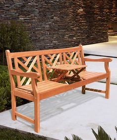 Look at this #zulilyfind! Pop-Up Table Atlantic Bench #zulilyfinds. Have to have furniture for your outdoor deck and backyard. This is a good start.