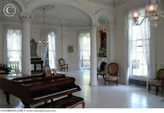 The White Ballroom at Nottoway Plantation....7 shades of white used in this room