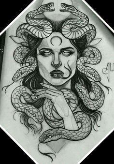 Leg Tattoos, Body Art Tattoos, Sleeve Tattoos, Tattos, Thigh Tattoos For Women, Thigh Sleeve Tattoo, Medusa Tattoo Design, Tattoo Design Drawings, Thigh Tattoo Designs