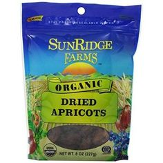 Sunridge Farms Organic Dried Apricots- 8-Ounce Bags (Pack of 12)