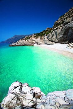 Beautiful Seychelles Beach, Ikaria Greece Nothing like some crystal green water.