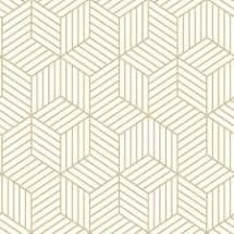 Wrought Studio Rumsey Striped Hexagon 16 5 L X 20 5 W Geometric Peel And Stick Wallpaper Peel And Stick Wallpaper White And Gold Wallpaper Peelable Wallpaper