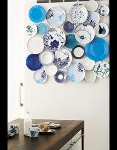 Assiettes sur les murs - 30 idées pour relooker vos murs