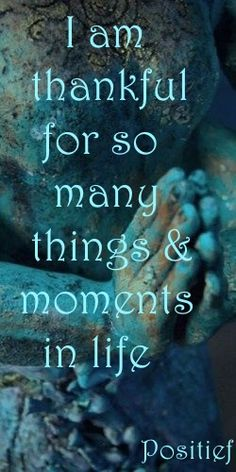 I am thankful for so many moments in life - positive thinking - quotes