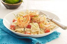 Creamy Tomato-Basil Pasta with Shrimp: Shrimp, butterfly pasta and sun ...