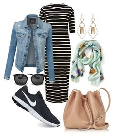 """Casual cute"" by susan-denton on Polyvore featuring Sugarhill Boutique, LE3NO, NIKE, Lancaster, Banana Republic and Prada"