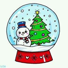 Ideas For Drawing Kawaii Christmas – Doodles Christmas Doodles, Christmas Drawing, Christmas Art, Cute Easy Drawings, Cute Kawaii Drawings, Clipart Noel, Kawaii Doodles, Christmas Wallpaper, Cute Art