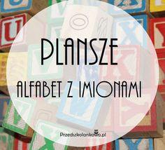 PLANSZE – ALFABET Z IMIONAMI – Przedszkolankowo