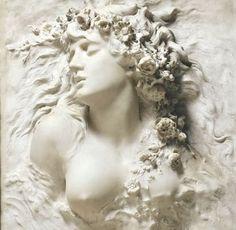 Ophelia by Sarah Bernhardt Sculpture Art, Sculptures, Dance Books, Greek Statues, Pink Paris, Outdoor Paint, Painting Quotes, French Actress, Patron Saints