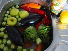 Torjunta-aineille kyytiä; kasvikset ja hedelmät kylvyn kautta käyttöön