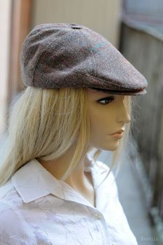 Mens newsboy cap Womens newsboy hat Brown newspaper boy by Nastiin  Newspaper Boy Hat 58b12521271