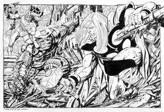 Thor vs. Destroyer and Loki by John Byrne