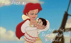 Ariel is the only princess with a child