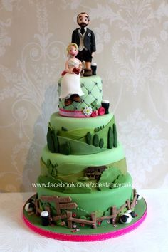 Yorkshire Dales themed wedding cake for crisp and beer loving walkers - more at https://www.facebook.com/zoesfancycakes