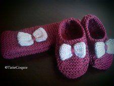 Tricoter des ballerines et un bandeau pour bébé