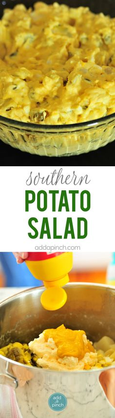 Potato Salad Recipe - Southern Potato Salad is a classic recipe perfect for Sunday suppers, summertime lunches, picnics, reunions, and every possible celebration! This potato salad recipe is a family favorite! Fun Easy Recipes, Popular Recipes, Quick Easy Meals, Healthy Recipes, Easy Dinners, Delicious Recipes, Southern Potato Salad, Classic Recipe, Side Dish Recipes