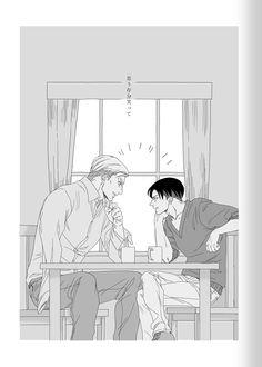 Levi And Erwin, Eruri, Levi Ackerman, Attack On Titan, Feels, Anime, Don't Judge, Shingeki No Kyojin, Anime Shows